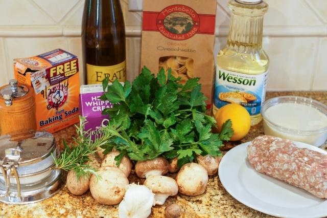 Pasta Alla Norcina ingredients