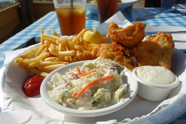 Fish and Chips at Sam's Chowder House in Half Moon Bay, CA