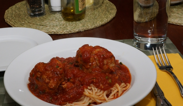 Dinner is served: Spaghetti and Meatballs