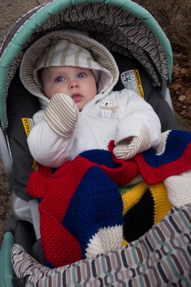 Jurgen bundled up for a walk