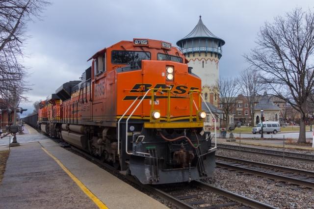 Inbound empty coal train at Riverside, IL