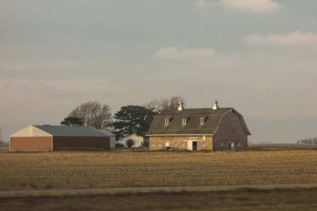 Barn on the Midwest prairie - central Illinois