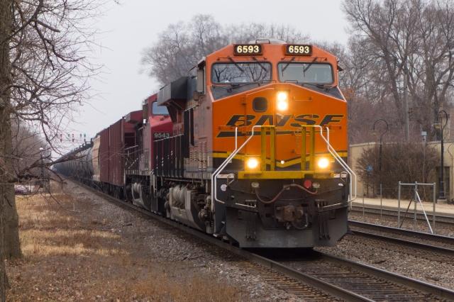 Inbound oil train