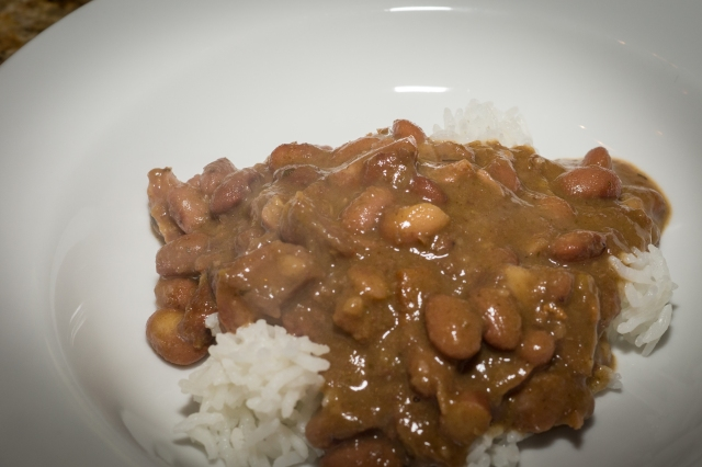 Dinner is served. Red Beans and Rice