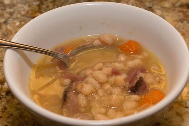 Dinner is served:: Senate Bean Soup