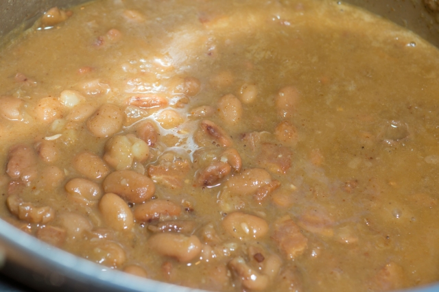 Pinto beans after pressure cooking.