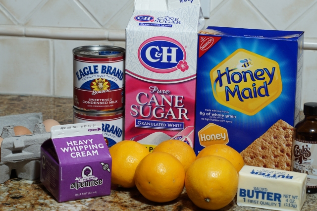 Lemon pie ingredients