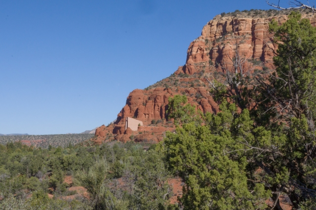 Chapel of the Holy Cross viewed from Little Horse Trail in Sedona, Arizona