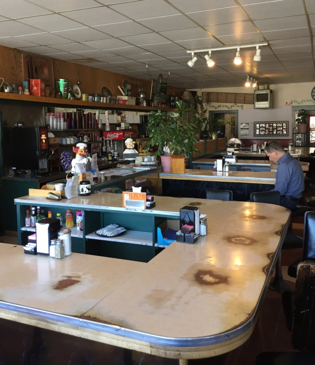 Interior of Hanson's Cafe Motel in Glenns Ferry, Idaho