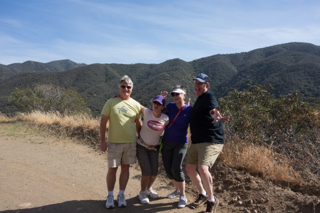 Glenn, Carolyn, Carla, and Howard on a hike in the Cleveland National Forest south of the Inland Empire.