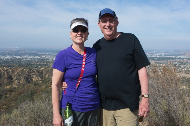 Carla and Howard enjoying the hike