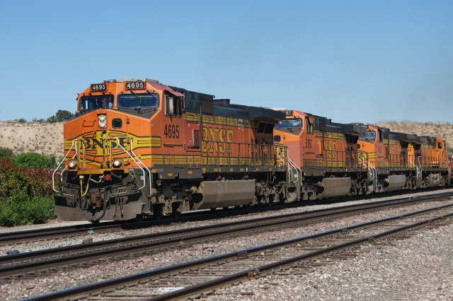 BNSF freight at Victorville, California