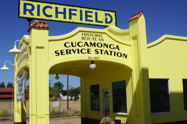 Restored Richfield gas station in Rancho Cucamonga, California