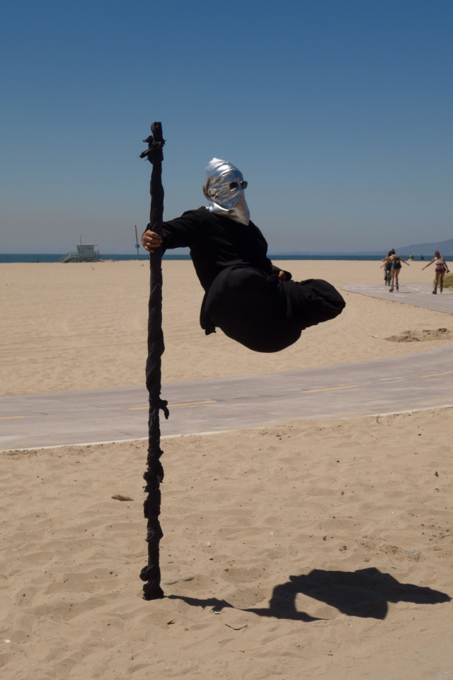 The Hovering Man at Venice Beach, California