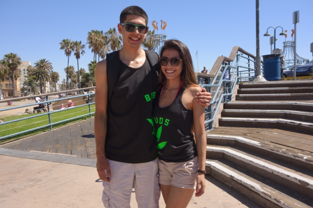 """Best Buds"" at the Santa Monica Pier"