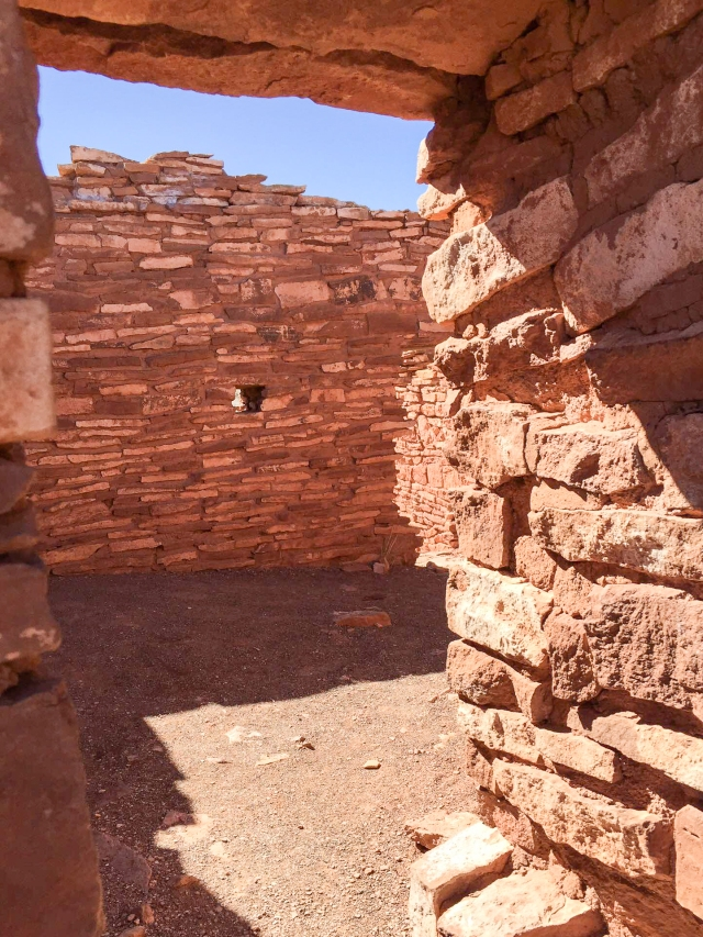 Interior of a pueblo at Wupatki National Monument (Yes it was okay to go in and take that picture)