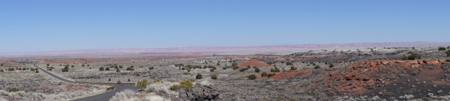 The Little Painted Desert viewed from Wupatki National Monument