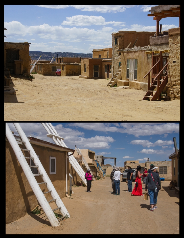 View from the plaza in the Acoma Sky City pueblo