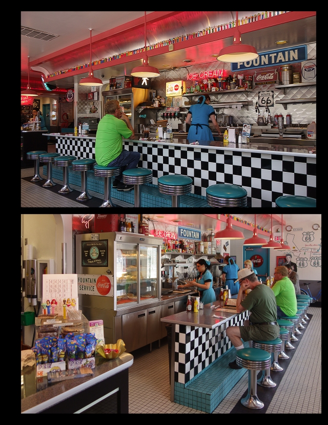 Interior of Albuquerque Route 66 Diner