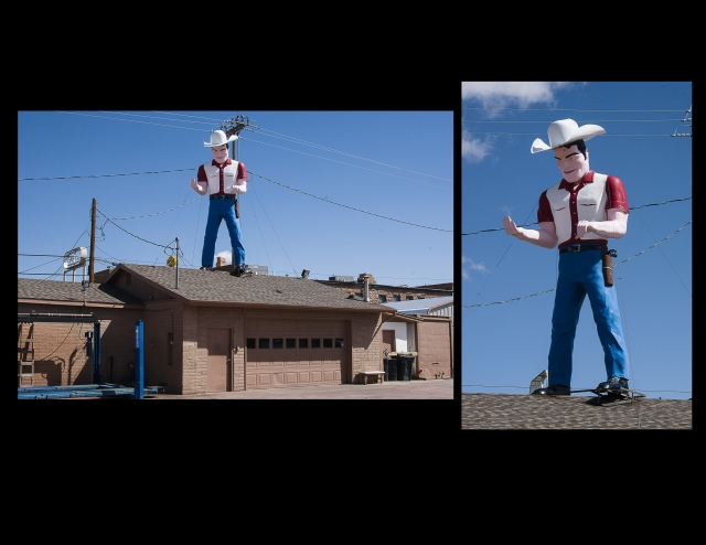 Giant muffler man in Gallup, New Mexico
