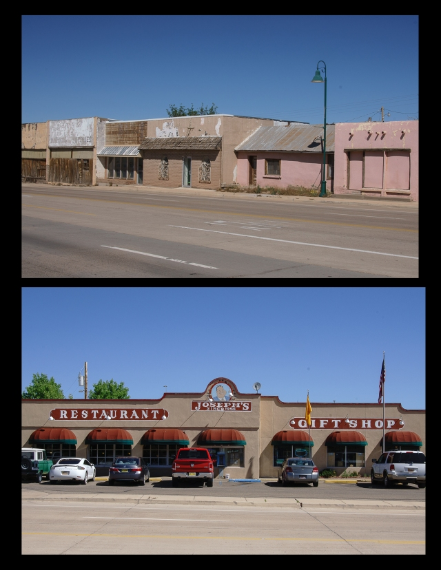 Shuttered and active businesses in Santa Rosa, New Mexico