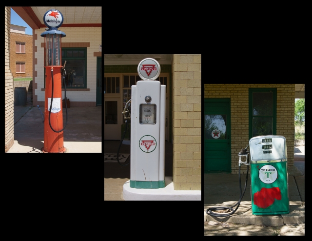 Gas pumps in Texas and Oklahoma