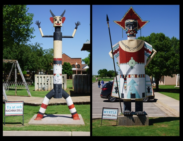 Giant Kachina dolls at the National Route 66 Museum Elk City, Oklahoma