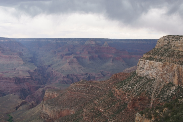 A storm over the Grand Canyon