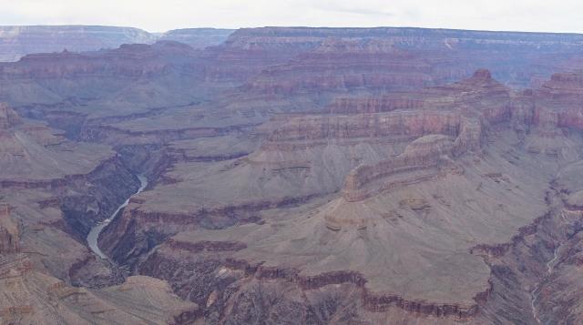 The Colorado River coursing through the Grand Canyon