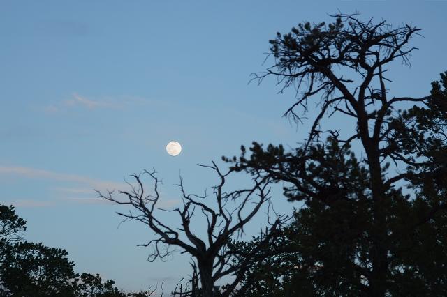 Full moon rising at the Grand Canyon