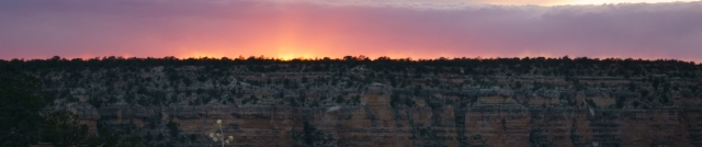 Grand Canyon at sunset banner photo