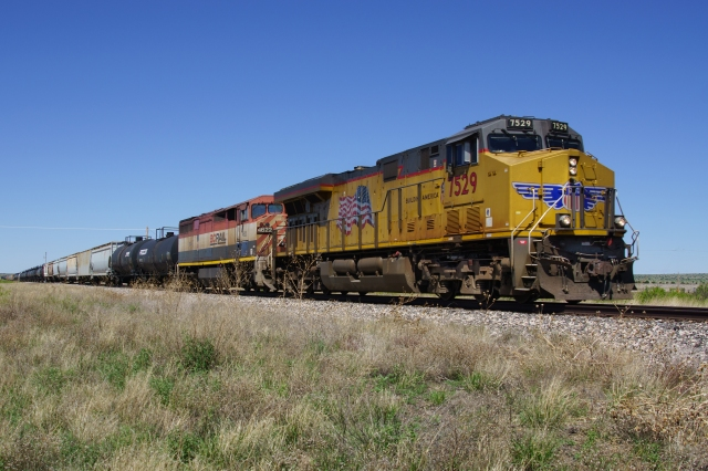 Union Pacific freight in eastern New Mexico