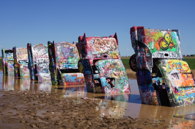 Cadillac ranch outside Amarillo.