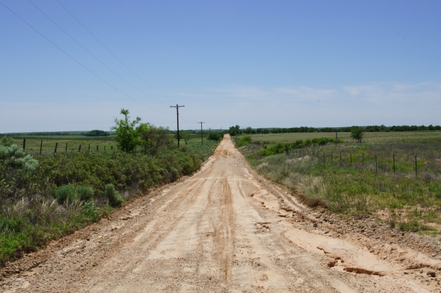 Dirt road out to the prairie in the Texas panhandle