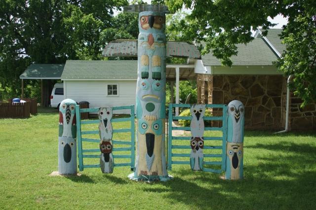 Totem pole in Foyil, Oklahoma