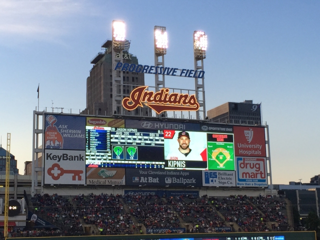 Progressive Field; home of the Cleveland, Indians in Ohio.