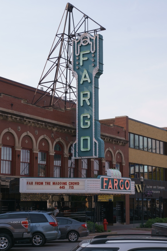 Theater sign in Fargo, North Dakota