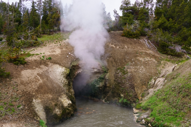 Dragons mouth at Yellowstone National Park