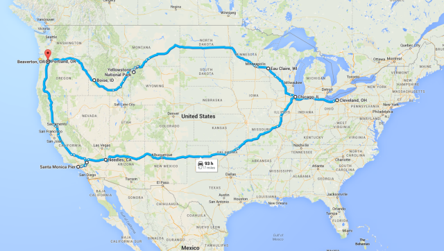Summer 2015 Road Trip Overview