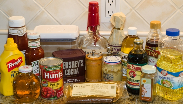Ingredients for 3 Barbecue Sauces