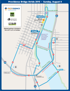 Providence Bridge Stride route