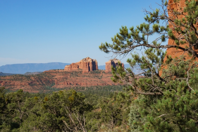 Looking across the valley from Chicken Point on Little Horse Trail in Sedona, Arizona