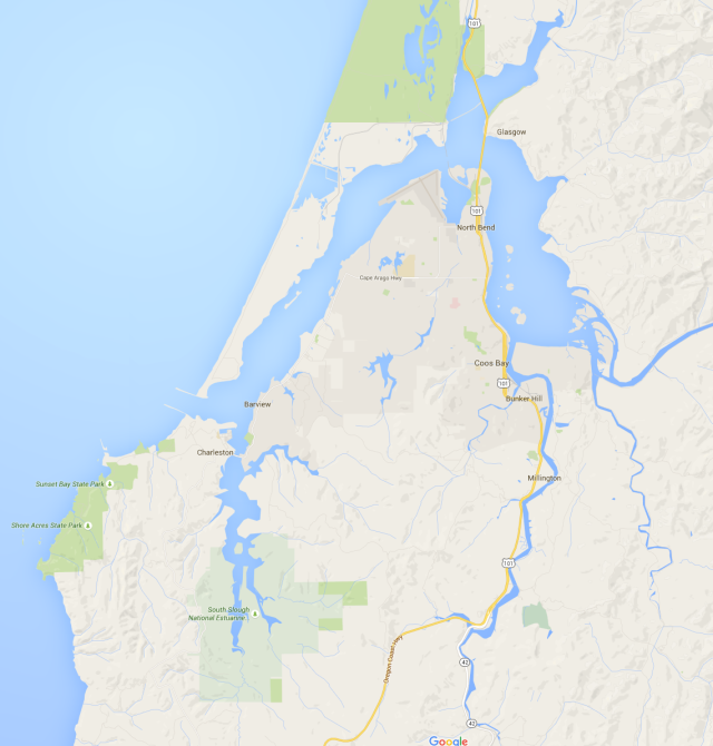 Coos Bay and North Bend, Oregon