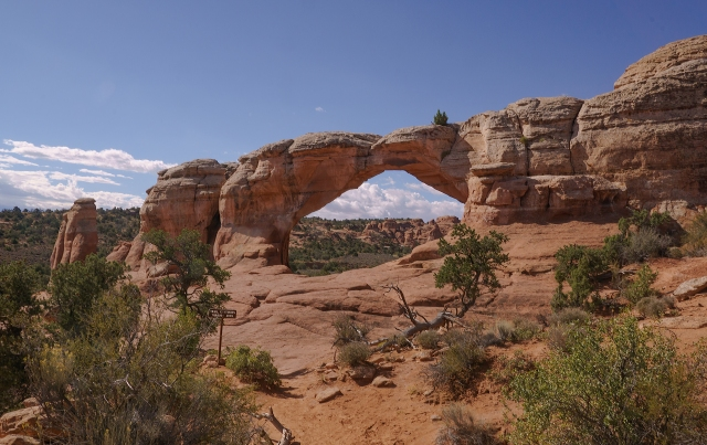 Broken Arch isn't really broken - Arches National Park