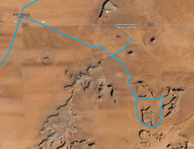Loop tour in Monument Valley