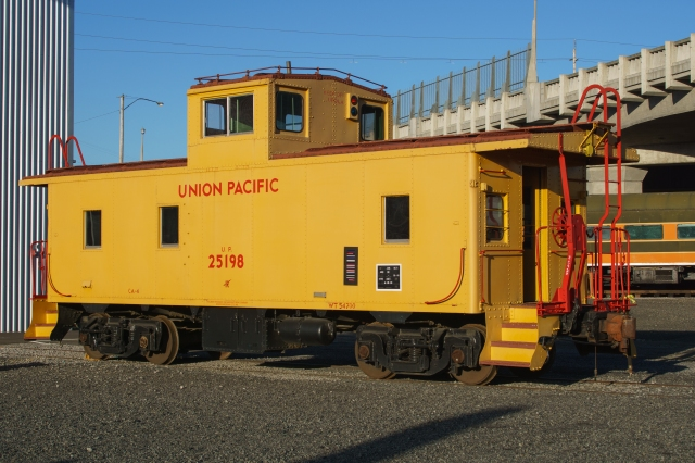 Privately owned Union Pacific caboose at the Oregon Rail Heritage Center