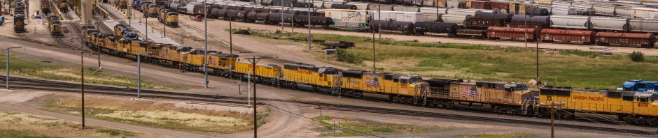 Union Pacific Rail Yard Banner Photo