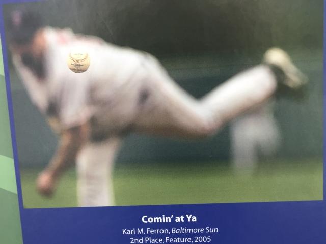 Great award winning photograph on display at the National Baseball Hall of Fame