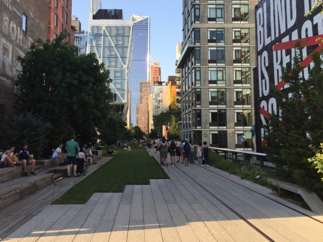The High Line Trail in Manhattan