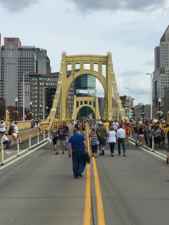 Roberto Clemente Bridge before a game - Pittsburgh, PA